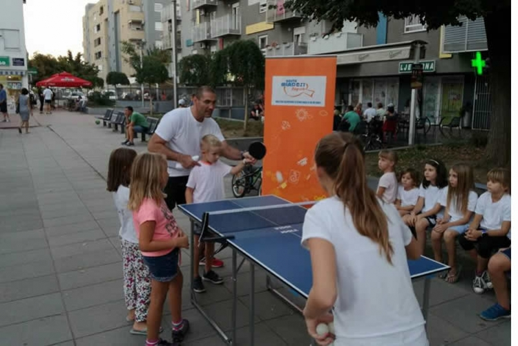 Prezentacija stolnog tenisa po zagrebačkim parkovima