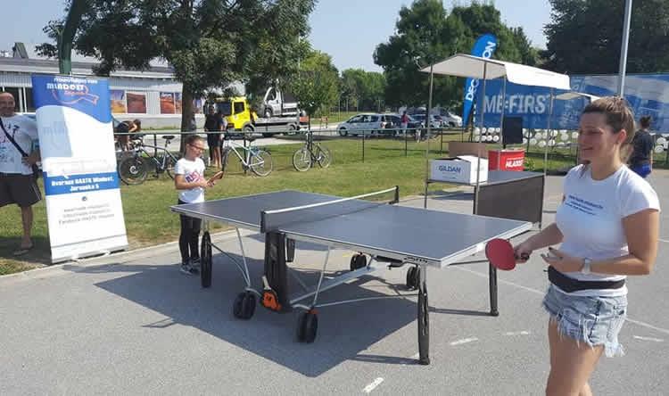 Igrači Mladosti, kao gosti Decathlona, prezentirali stolni tenis na Jarunu